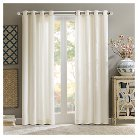 "Annabelle 100% Cotton Velvet Curtain Panel - Taupe (50""x84"")"