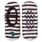 Women's MaryJane Slipper Cozy Holiday Gray Stripe with Narwhal - One Size