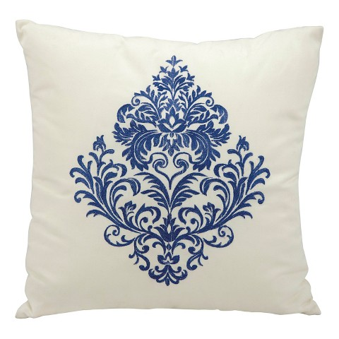 Target Decorative Pillows Blue : Damask Indoor/Outdoor Decorative Pillow - Blue -... : Target