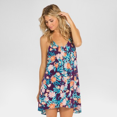 Women's Floral Cover Up Dress - Purple XL - Tori Praver Seafoam