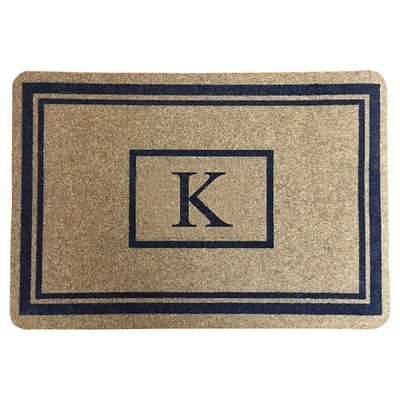 "Threshold™ Monogram Doormat - K (1'11""X2'11"")"