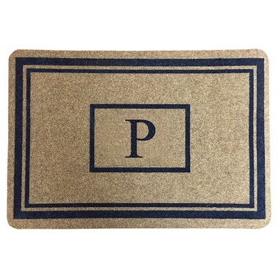 "Threshold™ Monogram Doormat - P (1'11""X2'11"")"