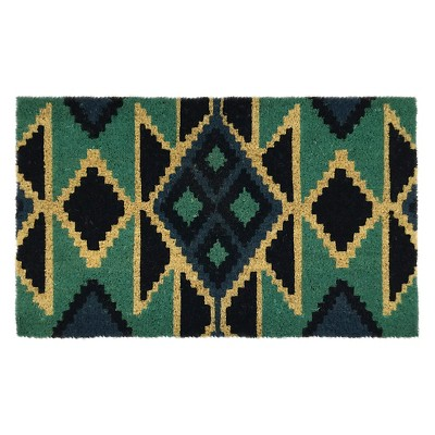 Threshold™ Triangles Doormat Blue 18x30