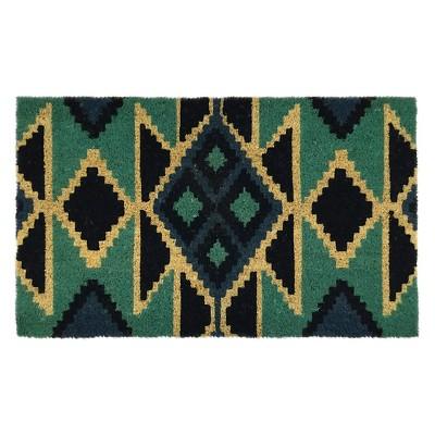 Threshold™ Triangles Doormat Blue 18x30