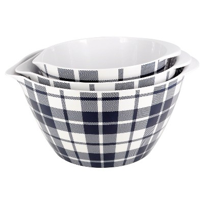 Threshold Plaid Mixing Bowl-Navy Blue Plaid