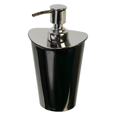 India Ink Nova Nova Two-Tone Metal Contemporary Lotion Dispenser - Gun Metal/Chrome