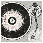 Art.com Vintage Analog Record Player by Michael Mullan - Art Print