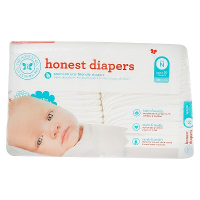Ecom Honest Diapers, White - Newborn (40 Count)