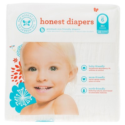 Honest Company  Diapers White - Size 6  (22 Count)
