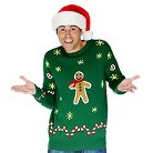 Adult Gingerbread Snack Christmas Sweater Costume