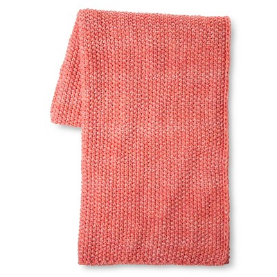 Coral Knit Throw - Coral - Xhilaration™