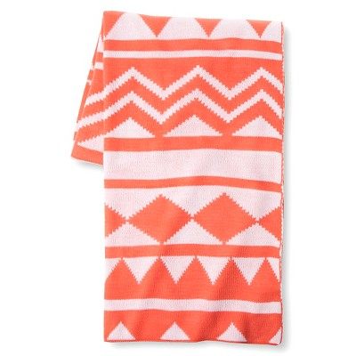"Tribal Knit Throw (50""x60"") Shell Pink - Xhilaration™"