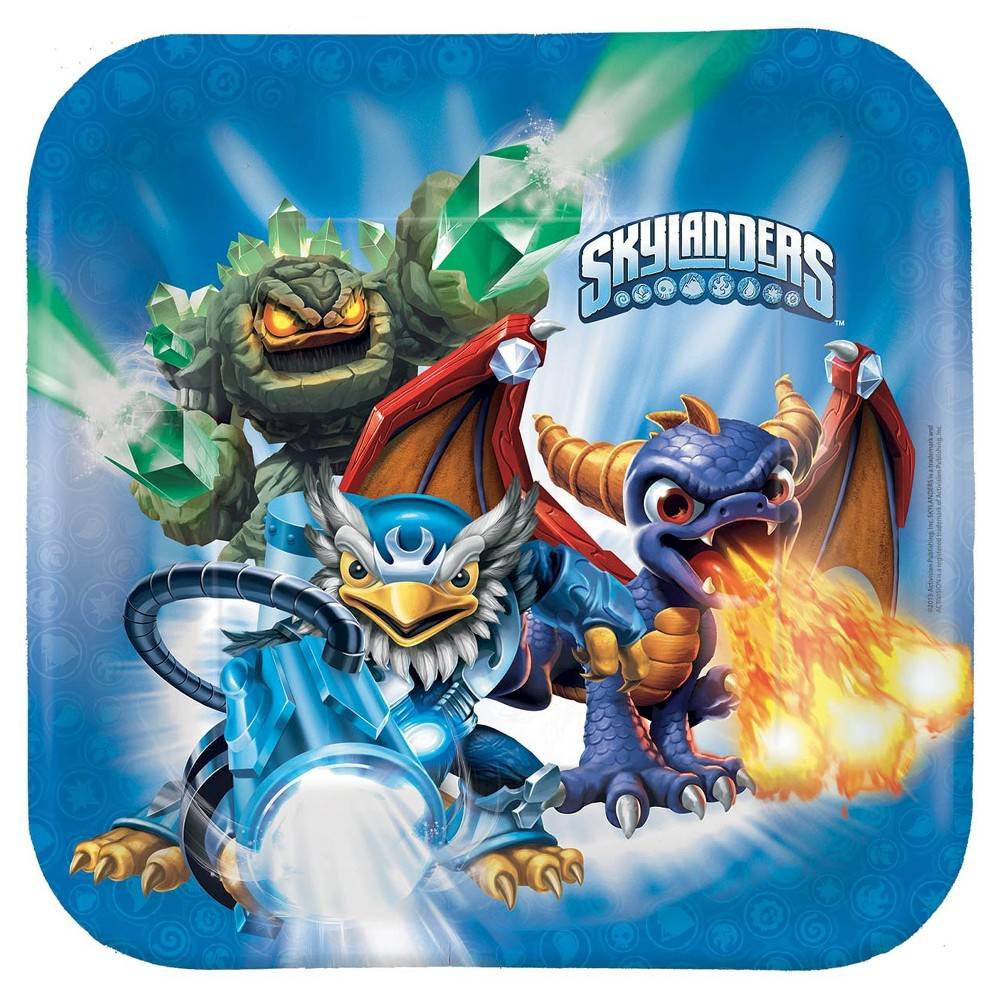 Skylanders Paper Dinner Plates - 8 count, Multi-Colored