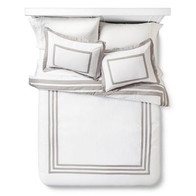 Hotel Jet Textured Comforter Set (Full/Queen) Gray - Xhilaration™