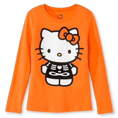 Girls 39 hello kitty halloween t shirt target for Hello kitty t shirt design