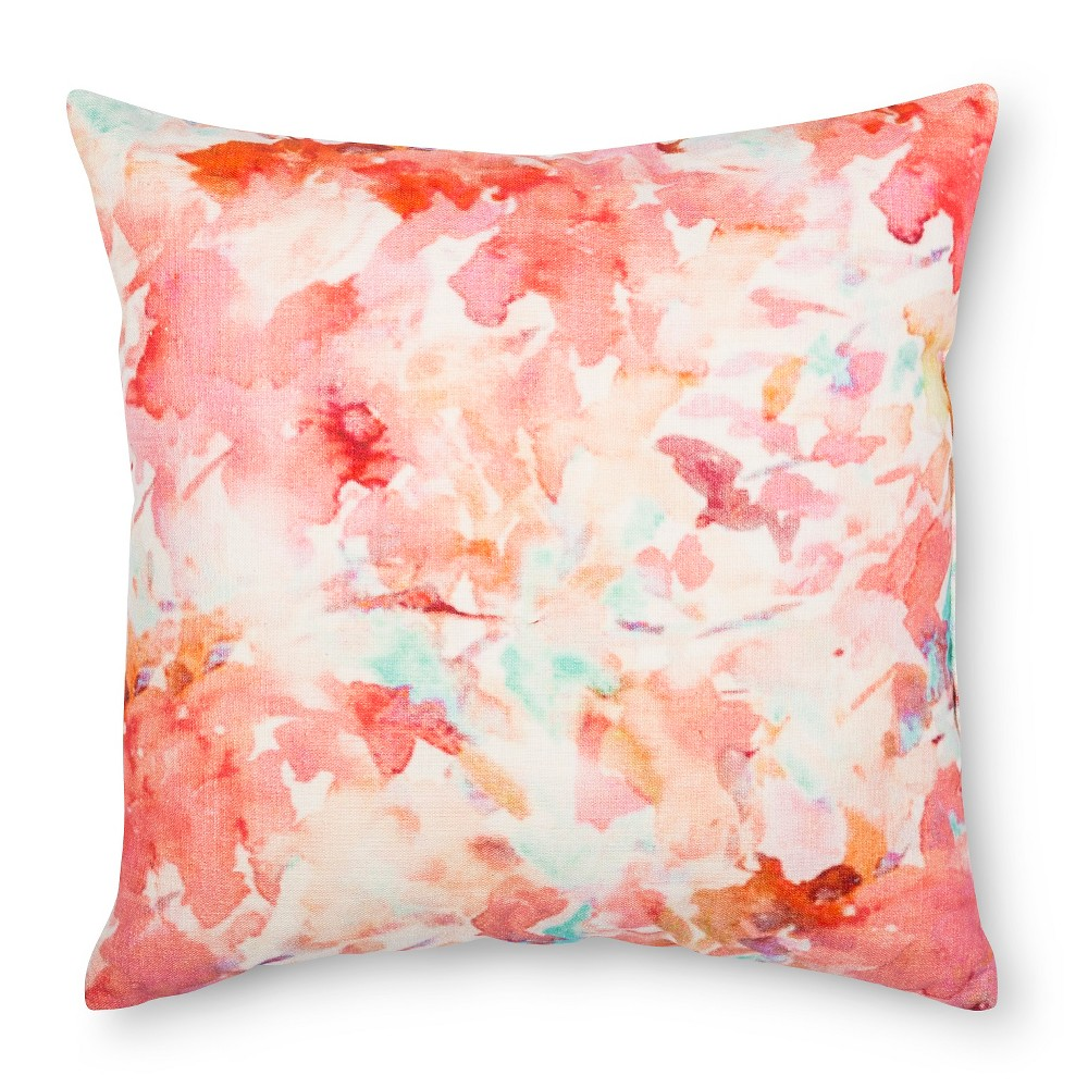 water color print pillow