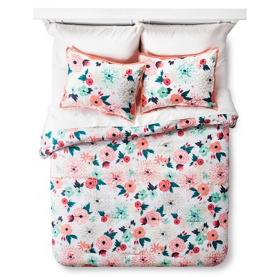Multi Floral Printed Comforter Set - Full/Queen - Multicolor - Xhilaration™