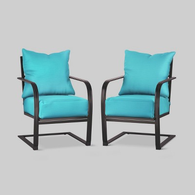 Ft Walton 2pk Club Chair Turquoise - Threshold™