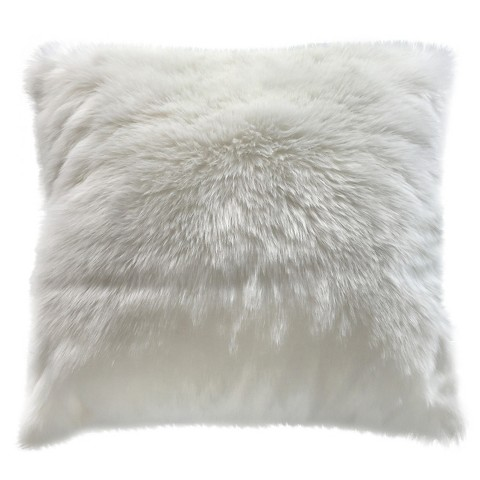 Threshold White Faux Fur Oversized Pillow : Target
