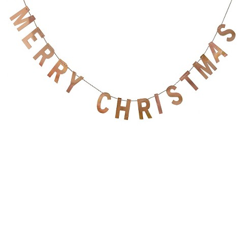 Threshold Gold Metallic Merry Christmas Banner