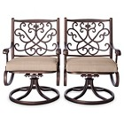 Folwell 2pk Cast Aluminum Swivel Dining Chairs - Threshold™