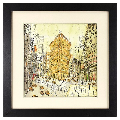 "Clare Caulfield Framed City Art (13x13"")"