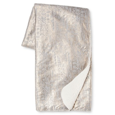 Metallic Jersey Throw - Gray - Xhilaration™