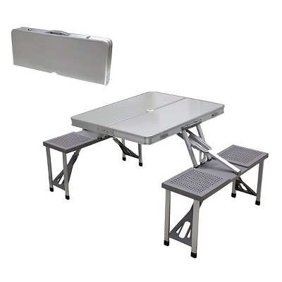 Aluminum Picnic Table Portable Table and Seats
