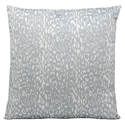 """Leopard Indoor/Outdoor Decorative Pillow - Grey - 20"""" x 20"""""""