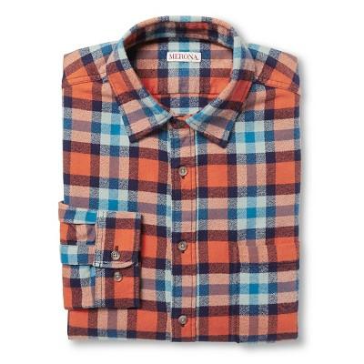Men's Button Down Shirts - Orange - L - Merona™
