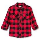 Boys' Button Down Flannel Shirt Red M Husky - Cherokee®