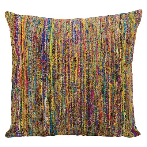 Target Throw Pillow Yellow : Multicolored Decorative Pillow - Yellow - 20