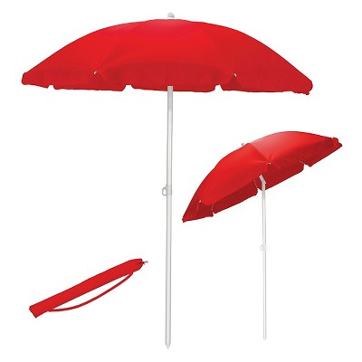 5.5' Portable Beach/Picnic Umbrella - Red