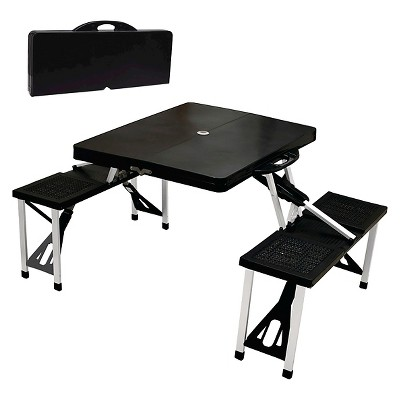 Portable Picnic Table and Seats - Black