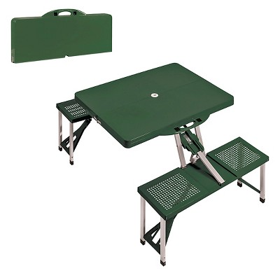 Portable Picnic Table and Seats - Green