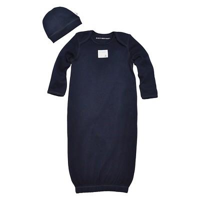 Newborn Boys' Burt's Bees Baby Cap n Nightgown - Blue 0-9 M