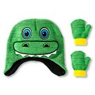 Toddler Boys' 2-Piece Dino Hat and Mitten Set Green -Granule