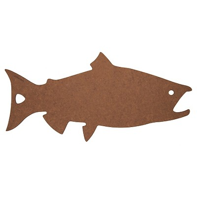 Epicurean Salmon Shape Board - Nutmeg/Brown