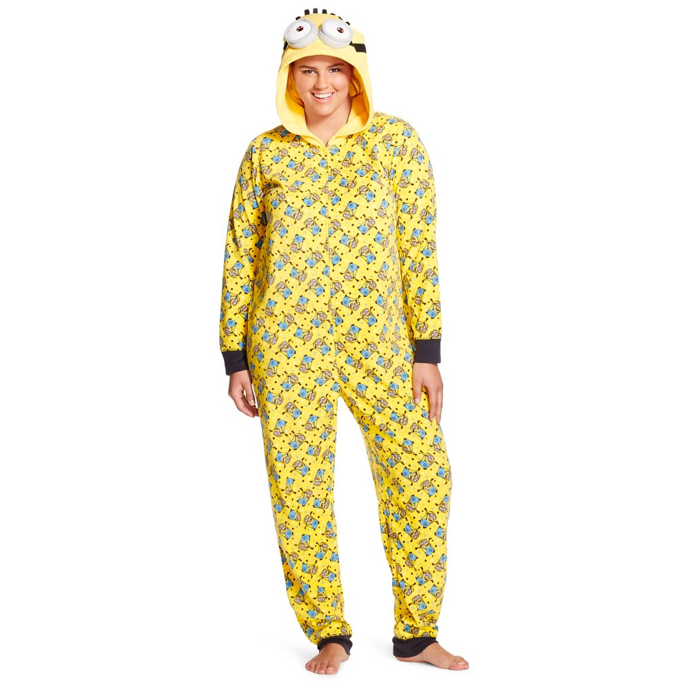 UPC 714147291626 product image for Women s Minion Plus Onesie 3X Yellow  4f7f90d33