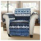 Lambert Tie Dye Furniture Protectors Navy Armchair