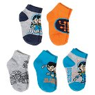 Miles from Tomorrowland Toddler Boys' 5-Pack Casual Socks - Blue (18M-3T)