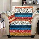 Boho Stripe Furniture Protector Turq/ Tangerine Armchair
