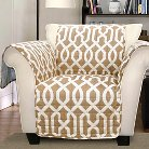 Edward Armchair Trellis Furniture Protector - Taupe