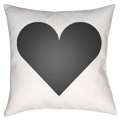 Emoticons - Heart Throw Pillow - Air Blue - 22  x 22  - Surya