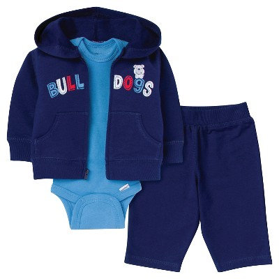 Gerber® Newborn Boys' Dog 3 Piece French Terry Jacket Set