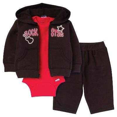 Gerber® Newborn Boys' Rock Star 3 Piece French Terry Jacket Set