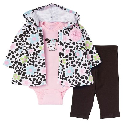 Gerber® Newborn Girls' Dalmatian 3 Piece French Terry Jacket Set