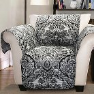 Aubree Furniture Protector Black/ White Armchair
