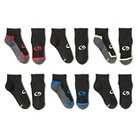 Boys' C9 Champion® Stripe Pattern 6-Pack Athletic Socks - Black L
