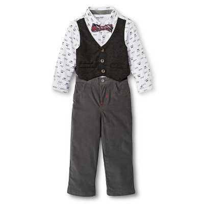 Male Top And Bottom Sets Baby Grand Signature White 0-3 M